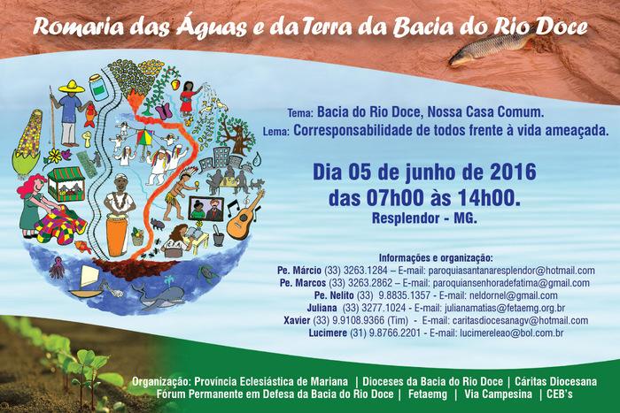 I Romaria das Águas e da Terra da Bacia do Rio Doce acontece em Resplendor (MG)